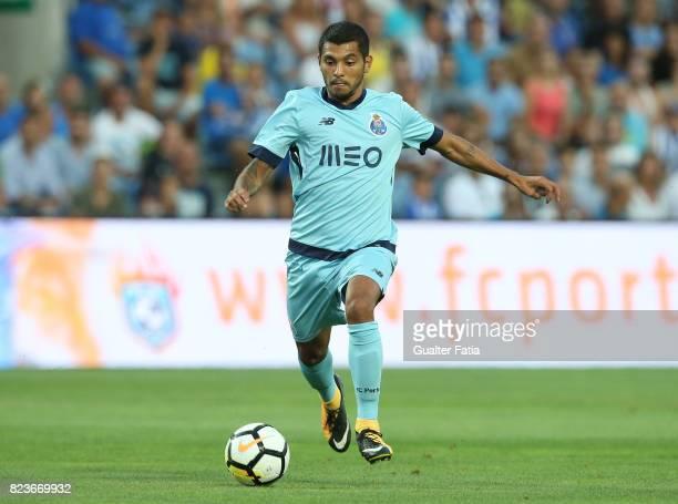 Porto forward Jesus Corona from Mexico in action during the PreSeason Friendly match between Portimonense SC and FC Porto at Estadio Algarve on July...