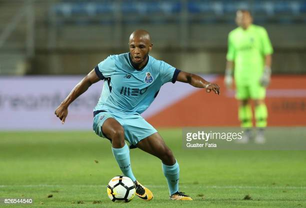 Porto forward Yacine Brahimi from Algeria in action during the PreSeason Friendly match between Portimonense SC and FC Porto at Estadio Algarve on...