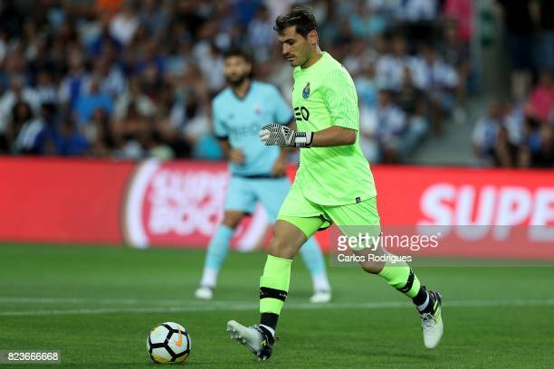 Porto goalkeeper Iker Casillas from Spain during the PreSeason Friendly match between Portimonense SC and FC Porto at Estadio do Algarve on July 27...