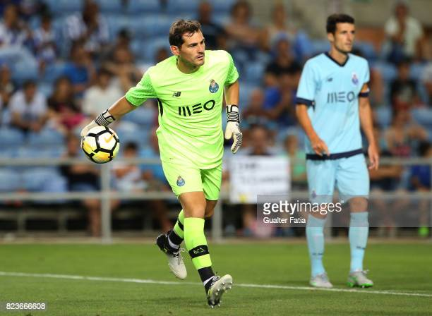Porto goalkeeper Iker Casillas from Spain in action during the PreSeason Friendly match between Portimonense SC and FC Porto at Estadio Algarve on...