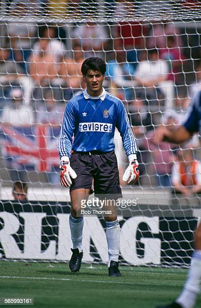 FC Porto goalkeeper Vitor Baia in action during a Makita International Tournament match against Arsenal at Wembley Stadium London 29th July 1989...