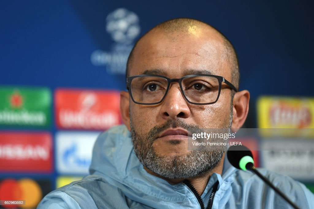 FC Porto head coach Nuno Espirito Santo faces the media during a press conference ahead of the UEFA Champions League Round of 16 second leg match between Juventus FC and FC Porto at Juventus Stadium on March 13, 2017 in Turin, Italy.