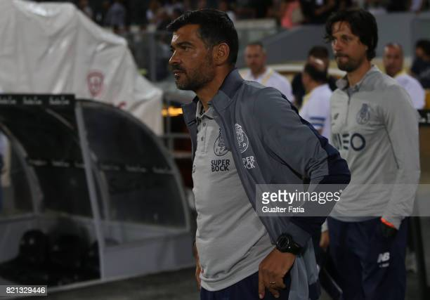 Porto head coach Sergio Conceicao at the end of the PreSeason Friendly match between Vitoria de Guimaraes and FC Porto at Estadio D Afonso Henriques...