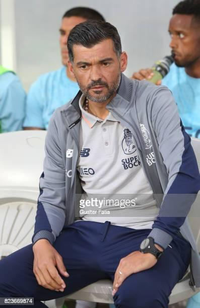 Porto head coach Sergio Conceicao before the start of during the PreSeason Friendly match between Portimonense SC and FC Porto at Estadio Algarve on...