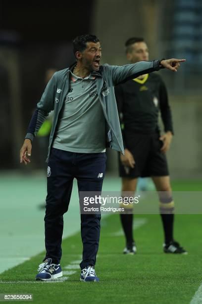 Porto head coach Sergio Conceicao from Portugal during the PreSeason Friendly match between Portimonense SC and FC Porto at Estadio do Algarve on...