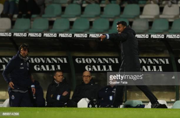 Porto head coach Sergio Conceicao from Portugal in action during the Primeira Liga match between Vitoria Setubal and FC Porto at Estadio do Bonfim on...