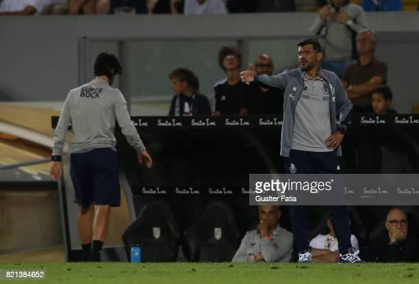 Porto head coach Sergio Conceicao in action during the PreSeason Friendly match between Vitoria de Guimaraes and FC Porto at Estadio D Afonso...