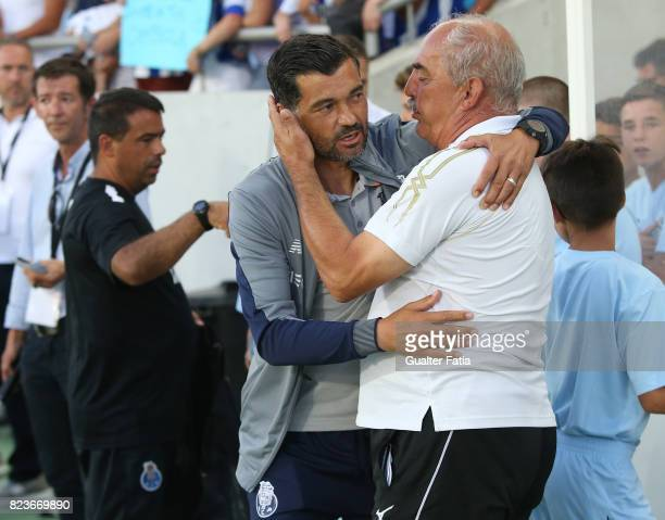 Porto head coach Sergio Conceicao with Portimonense SC head coach Vitor Oliveira from Portugal before the start of the PreSeason Friendly match...