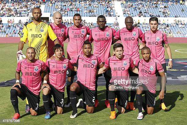 Porto initial team during the Primeira Liga match between Belenenses and FC Porto at Estadio do Restelo on May 17 2015 in Lisbon Portugal