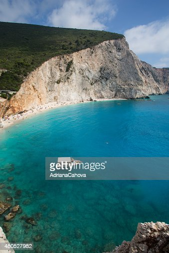 Porto Katsiki Beach : Stock Photo