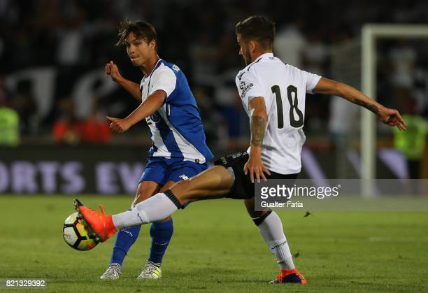Porto midfielder Oliver Torres from Spain with Vitoria Guimaraes midfielder Kiko from Portugal in action during the PreSeason Friendly match between...