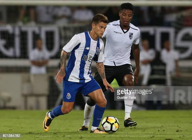Porto midfielder Otavio from Brazil in action during the PreSeason Friendly match between Vitoria de Guimaraes and FC Porto at Estadio D Afonso...