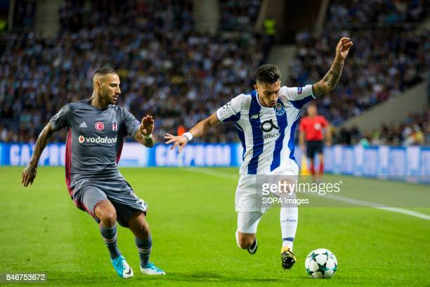 Porto player Francisco Soares in action during the Premier League 2017/18 match between FC Porto and Besiktas JK at Dragon Stadium