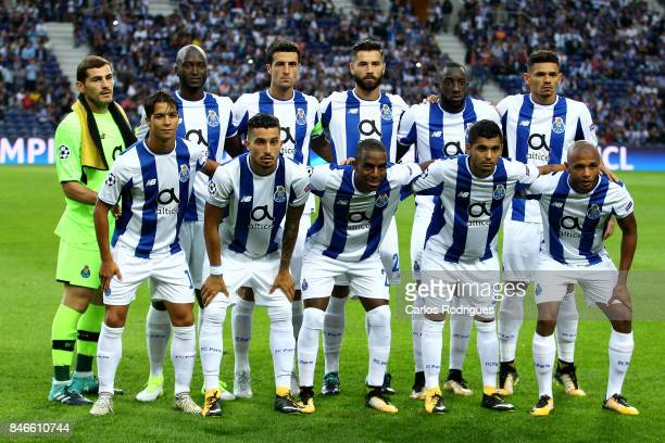 Porto team pose for a photo during the match between FC Porto v Besiktas JK for the UEFA Champions League match at Estadio do Dragao on September 13...
