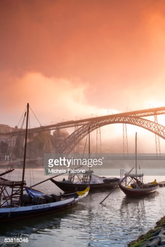 Porto Wine Carrying Barcos (Barges) on River Douro