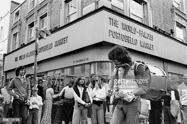 Portobello Road market London August 1975
