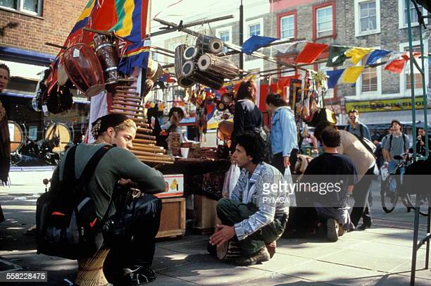 Portobello street market West London UK 1990s