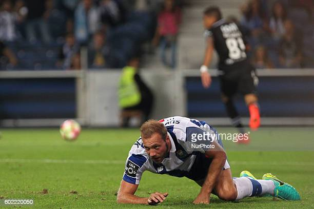 Porto's Belgian forward Laurent Depoitre during Premier League 2016/17 match between FC Porto and Vitoria SC at Dragao Stadium in Porto on September...