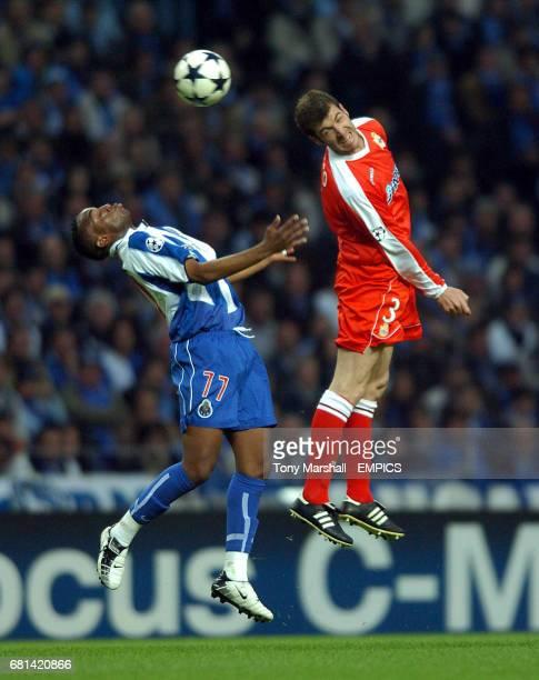 FC Porto's Benni McCarthy and Deportivo La Coruna's Romero