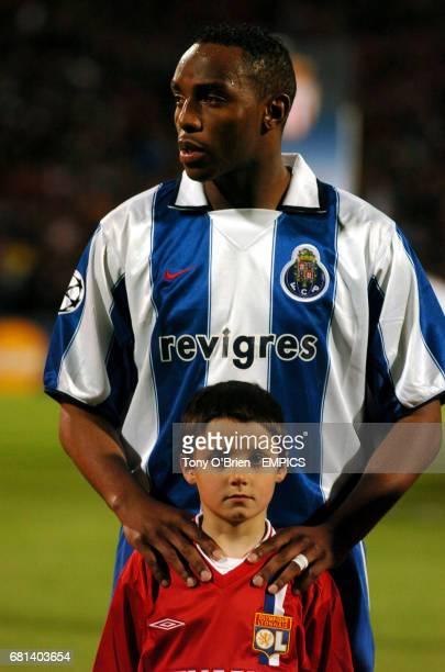 FC Porto's Benni McCarthy and mascot