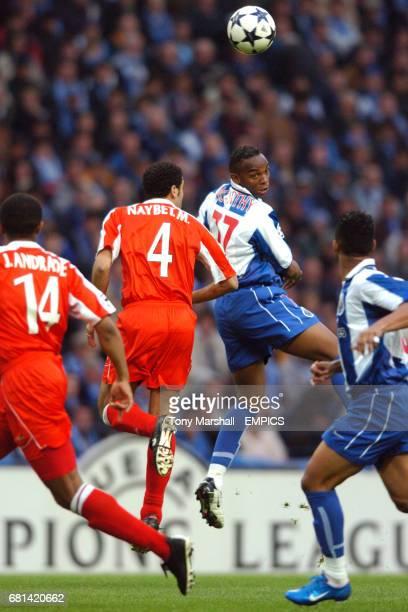 FC Porto's Benni McCarthy in action against Deportivo La Coruna