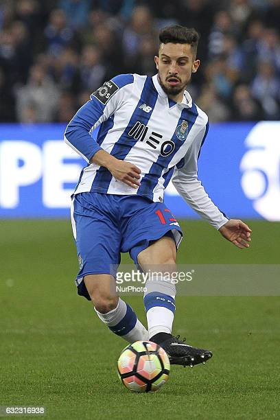 Porto's Brazilian defender Alex Telles during the Premier League 2016/17 match between FC Porto and Rio Ave at Dragao Stadium in Porto on January 21...