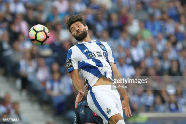 Porto's Brazilian defender Felipe during the Premier League 2016/17 match between FC Porto and Belenenses at Dragao Stadium in Porto on April 8 2017