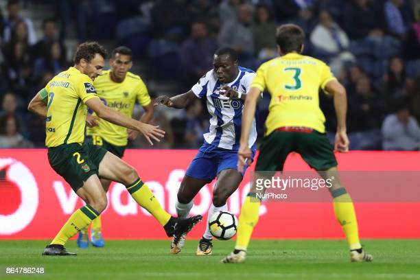 Porto's Cameroonian forward Vincent Aboubakar during the Premier League 2017/18 match between FC Porto and FC Pacos de Ferreira at Dragao Stadium in...