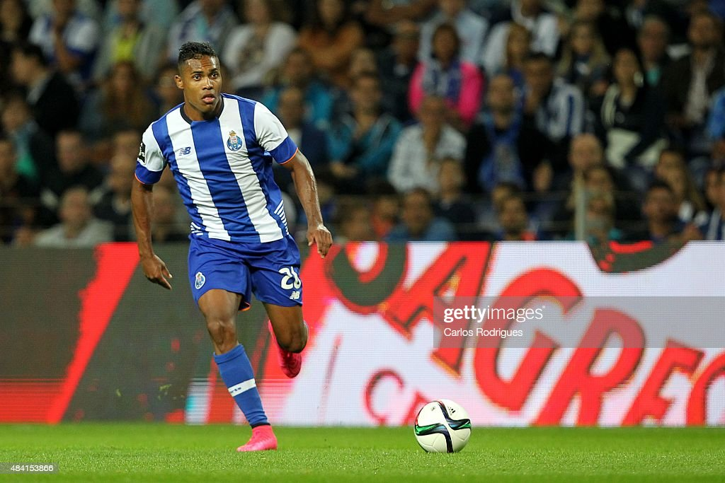 Porto's defender Alex Sandro during the match between FC Porto and Vitoria Guimaraes for the Portuguese Primeira Liga at Estadio do Dragao on August 15, 2015 in Porto, Portugal.