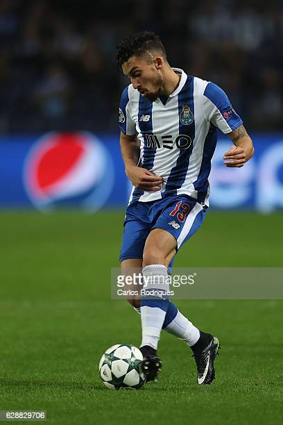 Porto's defender Alex Telles from Brazil during the match between FC Porto v Leicester City FC UEFA Champions League match at Estadio do Dragão on...