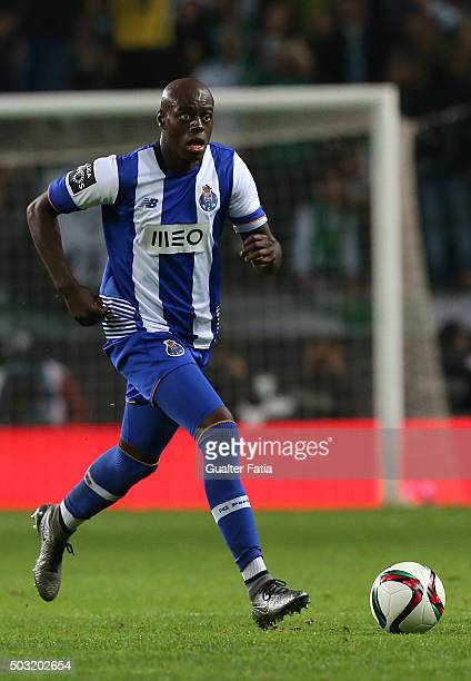 Porto's defender Bruno Martins Indi in action during the Primeira Liga match between Sporting CP and FC Porto at Estadio Jose Alvalade on January 2...