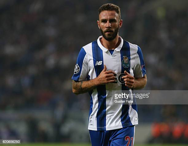 Porto's defender from Mexico Miguel Layun in action during the UEFA Champions League match between FC Porto and Club Brugge KV at Estadio do Dragao...