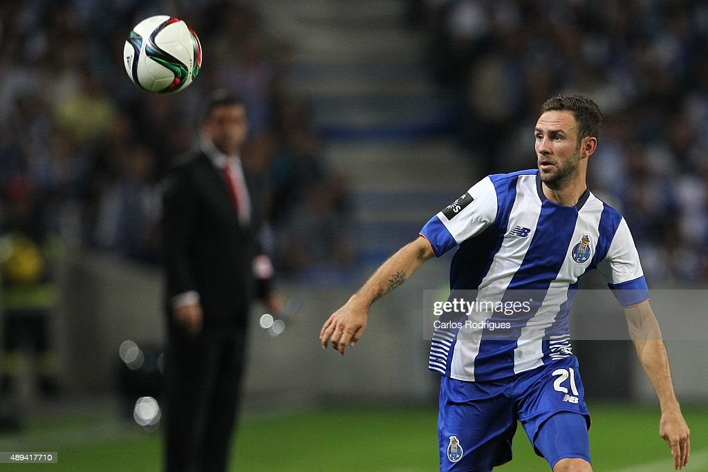 Porto's defender Layun during the match between FC Porto and SL Benfica for the Portuguese Primeira Liga at Estadio do Dragao on September 20, 2015 in Porto, Portugal.