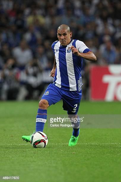 Porto's defender Maxi Pereira during the match between FC Porto and SL Benfica for the Portuguese Primeira Liga at Estadio do Dragao on September 20...