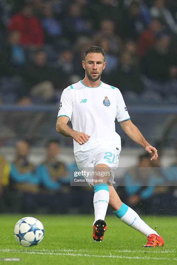 Porto's defender Miguel Layun during the Champions League match between FC Porto and FC Dynamo Kyiv at Estadio do Dragao on November 24 2015 in Porto...