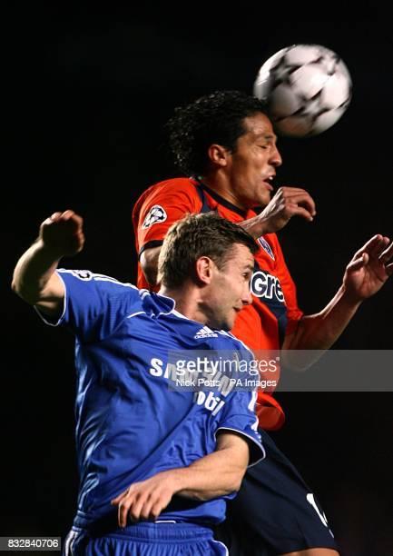FC Porto's Eduardo Bruno Alves and Chelsea's Andriy Shevchenko