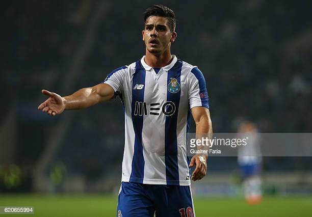 Porto's forward Andre Silva during the UEFA Champions League match between FC Porto and Club Brugge KV at Estadio do Dragao on November 2 2016 in...