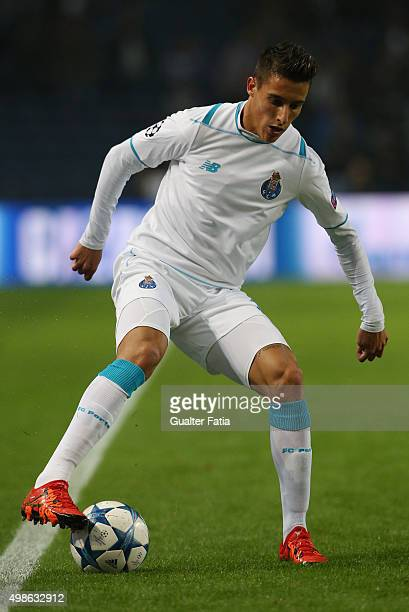 PortoÕs forward Cristian Tello in action during the UEFA Champions League match between FC Porto and FC Dynamo Kyiv at Estadio do Dragao on November...