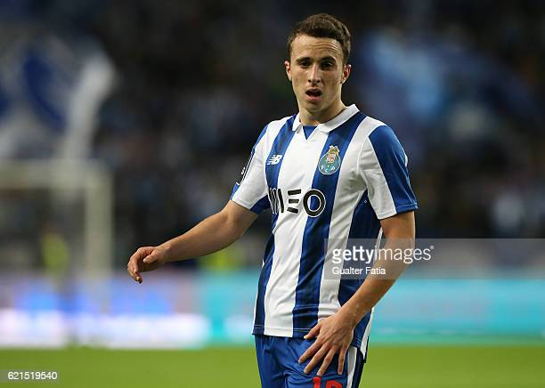 Porto's forward Diogo Jota during the Primeira Liga match between FC Porto and SL Benfica at Estadio do Dragao on November 6 2016 in Porto Portugal