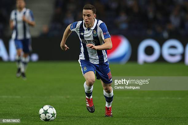Porto's forward Diogo Jota from Portugal during the match between FC Porto v Leicester City FC UEFA Champions League match at Estadio do Dragão on...