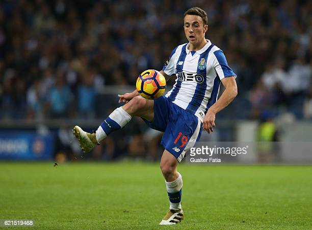 Porto's forward Diogo Jota in action during the Primeira Liga match between FC Porto and SL Benfica at Estadio do Dragao on November 6 2016 in Porto...