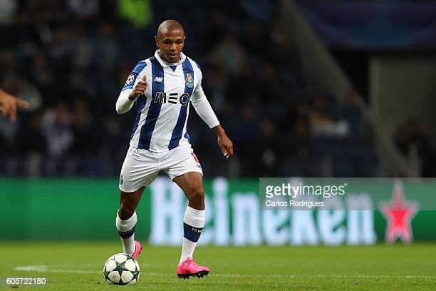 Porto's forward from Algeria Yacine Brahimi during the UEFA Champions League match between FC Porto v FC Copenhagen at Estadio do Dragao on September...