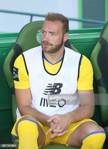 Porto's forward from Belgium Laurent Depoitre before the start of the Primeira Liga match between Sporting CP and FC Porto at Estadio Jose Alvalade...
