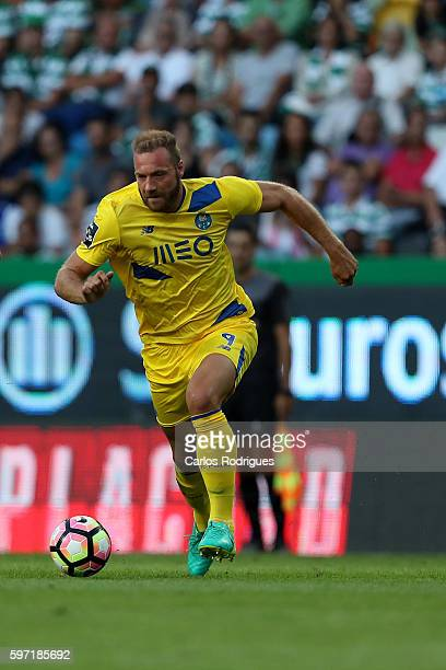 Porto's forward from Belgium Laurent Depoitre during the Portuguese Primeira Liga between Sporting CP and FC Porto at Estadio Jose Alvalade on August...