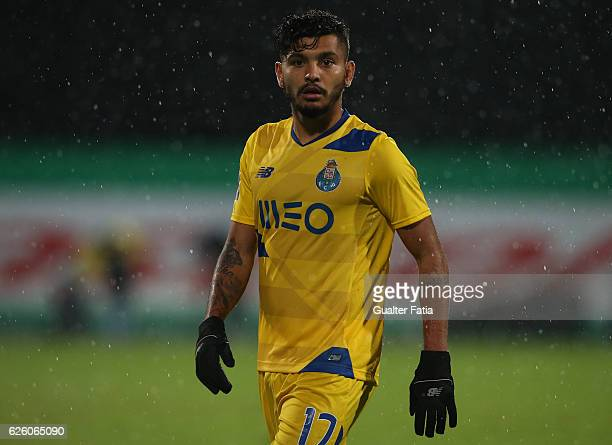 Porto's forward from Mexico Jesus Corona during the Primeira Liga match between Os Belenenses and FC Porto at Estadio do Restelo on November 26 2016...