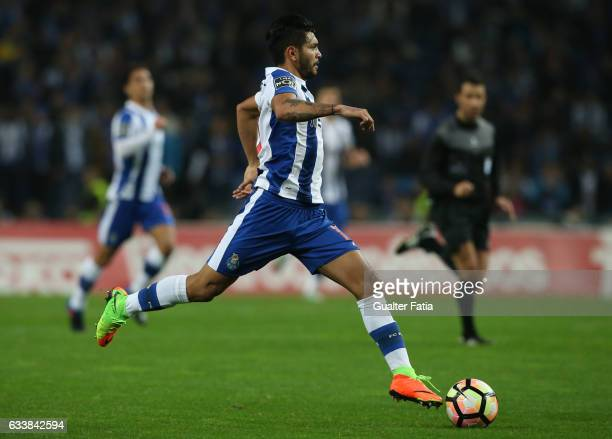 PortoÕs forward from Mexico Jesus Corona in action during the Primeira Liga match between FC Porto and Sporting CP at Estadio do Dragao on February 4...
