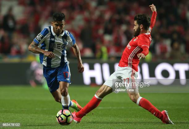 Porto's forward from Mexico Jesus Corona with SL Benfica's forward from Portugal Rafa Silva in action during the Primeira Liga match between SL...