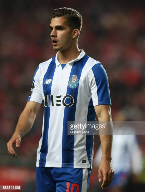 Porto's forward from Portugal Andre Silva during the Primeira Liga match between SL Benfica and FC Porto at Estadio da Luz on April 1 2017 in Lisbon...