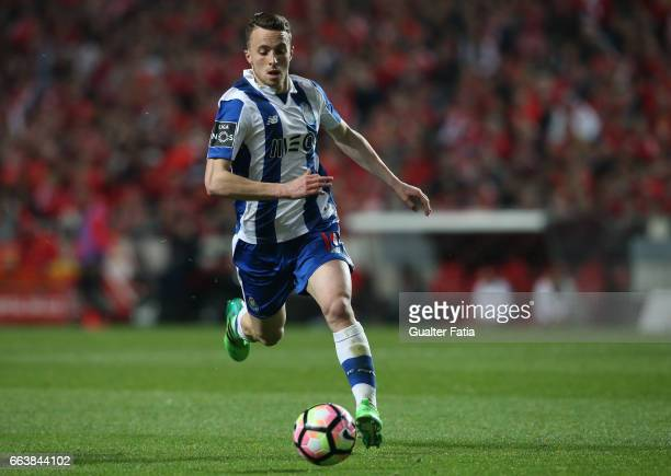Porto's forward from Portugal Diogo Jota in action during the Primeira Liga match between SL Benfica and FC Porto at Estadio da Luz on April 1 2017...