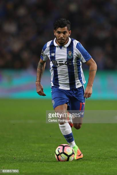 Porto's forward Jesus Corona from Mexico during the FC Porto v Sporting CP Primeira Liga match at Estadio do Dragao on February 04 2017 in Porto...